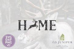 Reindeer Home SVG, Christmas Sign SVG, Reindeer SVG Product Image 2