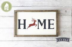 Reindeer Home SVG, Christmas Sign SVG, Reindeer SVG Product Image 1