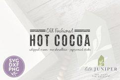 Hot Cocoa SVG, Fall SVG, Christmas SVG, Grain Sack Product Image 2