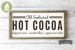 Hot Cocoa SVG, Fall SVG, Christmas SVG, Grain Sack Product Image 1