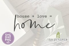 House Plus Love Equals Home SVG, Farmhouse SVG Product Image 2