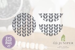 Sweater Pattern SVG, Round Sign SVG, Winter, Christmas SVG Product Image 2
