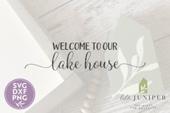Welcome to Our Lake House SVG Files, Summer SVG Product Image 2