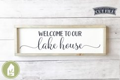 Welcome to Our Lake House SVG Files, Summer SVG Product Image 1