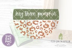 Hey There Pumpkin SVG, Fall SVG, Round Sign, Leopard Print Product Image 2