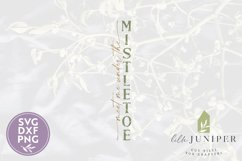 Meet Me Under the Mistletoe, Vertical Christmas Sign Product Image 2