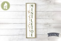 Meet Me Under the Mistletoe, Vertical Christmas Sign Product Image 1