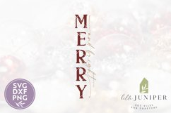 Merry and Bright, Vertical Christmas Sign, Christmas SVG Product Image 2