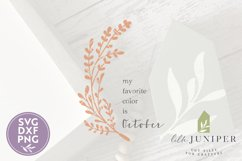My Favorite Color is October, Fall Sign SVG, Autumn SVG Product Image 2