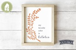 My Favorite Color is October, Fall Sign SVG, Autumn SVG Product Image 1