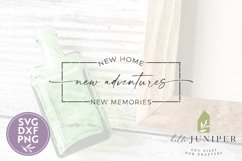 Farmhouse Sign, New Home New Adventures, Real Estate SVG Product Image 2