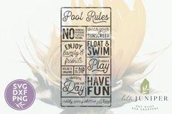 Pool Rules SVG, Wood Sign SVG, Summer SVG Product Image 2