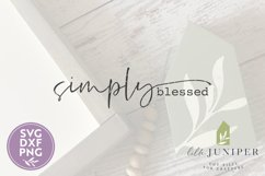 Simply Blessed SVG, Wood Sign SVG Product Image 2