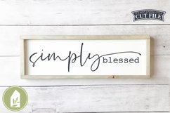 Simply Blessed SVG, Wood Sign SVG Product Image 1