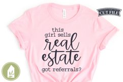 This Girl Sells Real Estate SVG, Real Estate Shirt SVG Product Image 1
