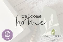Welcome Home, Front Door SVG, Round Sign SVG Product Image 2