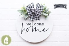 Welcome Home, Front Door SVG, Round Sign SVG Product Image 1