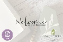 Welcome to Our Farmhouse, Front Door SVG, Round Sign SVG Product Image 2