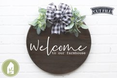 Welcome to Our Farmhouse, Front Door SVG, Round Sign SVG Product Image 1