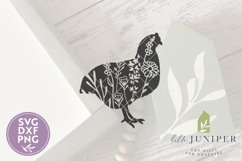 Wildflower Chicken SVG, Farmhouse SVG Product Image 2
