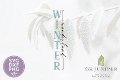Winter Wonderland, Vertical Winter Sign, Christmas SVG Product Image 2