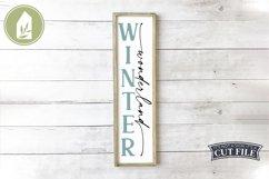 Winter Wonderland, Vertical Winter Sign, Christmas SVG Product Image 1