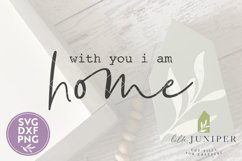 With You I Am Home SVG, Wood Sign SVG Product Image 2