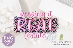 Keeping It Real Estate PNG, Rainbow Leopard Print Sub Files Product Image 2
