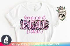 Keeping It Real Estate PNG, Rainbow Leopard Print Sub Files Product Image 1
