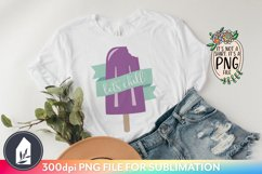 Sublimation Files, Let's Chill Retro Grape Ice Pop PNG Product Image 3