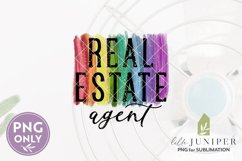 Sublimation Files, Real Estate Agent PNG, Rainbow PNG Product Image 2