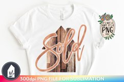 Sublimation Files, Sold House PNG, Real Estate PNG Product Image 1