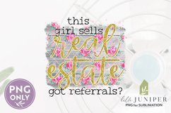 This Girl Sells Real Estate PNG, Sublimation Files Product Image 2