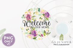 Welcome Sign Sublimation, Round Sign Sublimation Product Image 2