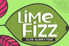 Lime Fizz Handwritten Font for Crafters. OTF and TTF font formats