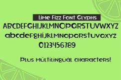 Lime Fizz Font Characters