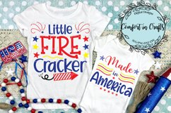 Little Fire Cracker and Made in America Independence Day SVG Product Image 1