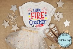 Little Fire Cracker and Made in America Independence Day SVG Product Image 2