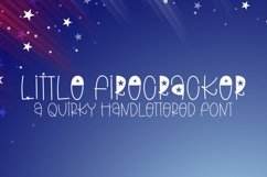 Web Font Little Firecracker - A Quirky Handlettered Font Product Image 1