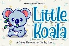 Little Koala | A Cute Handwritten Quirky Font Product Image 1