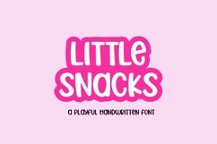Web Font Little Snacks - a fun craft font Product Image 1