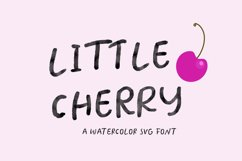 Little Cherry SVG watercolor font Product Image 1