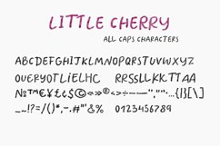 Little Cherry SVG watercolor font Product Image 5