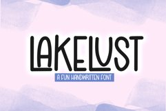 Lakelust - A Quirky Handwritten Font Product Image 1