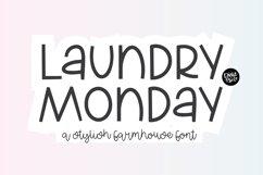 LAUNDRY MONDAY Stylish Farmhouse Font Product Image 1