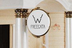 Modern Sans Serif font. FREEGATA - Thin Line Logo Font. Product Image 3