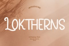 Loktherns Handwritten Display Font Product Image 1