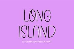 Web Font Long Island - a quirky handwritten font Product Image 1