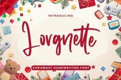 Web Font Lorgnette - Christmas Handwritten Font Product Image 1