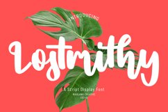 Lostmithy Script Display Font Product Image 1